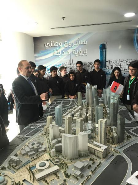 Students Explored The Grounds Of Project And Investigated Infrastructure That Makes This Urban Renewal Unique To Jordan National